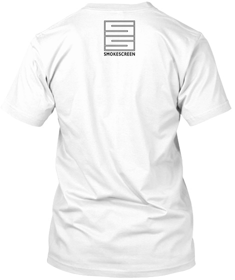 Ss Smokescreen White T-Shirt Back
