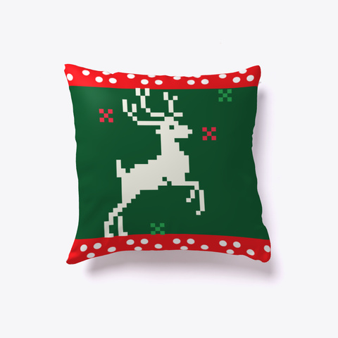 Decorative Christmas Pillow !!  Dark Green T-Shirt Back