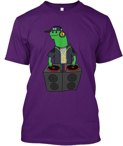 Dj Lamar Purple T-Shirt Front