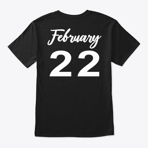 February 22   Pisces Black T-Shirt Back