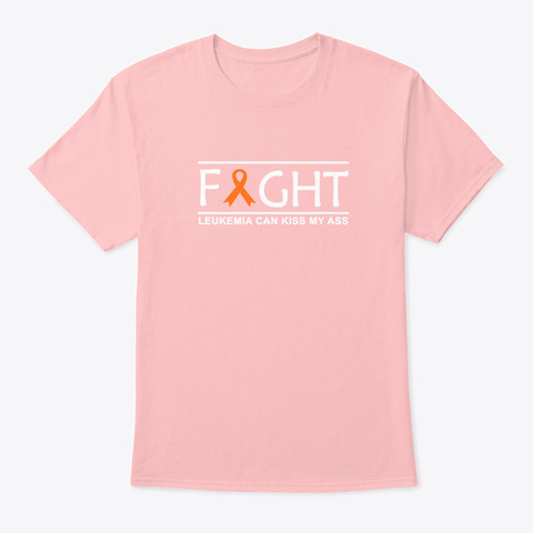 Fight Leuemia Awareness Ribbon Gift Pale Pink T-Shirt Front