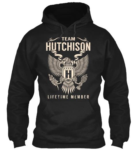 Team Hutchison H Lifetime Member Black T-Shirt Front