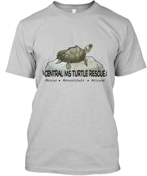 Central Ms Turtle Rescue Rescue Rehabilitate Release Light Steel T-Shirt Front