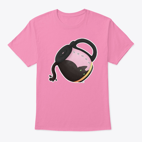 Catfee The Coffee Cat Pink T-Shirt Front