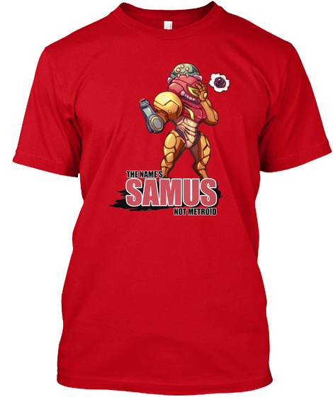 Samus (Metroid) Red T-Shirt Front