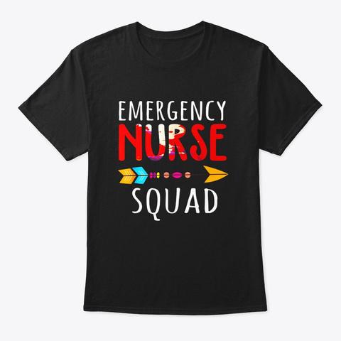 Funny Emergency Nurse Squad Er Nurses Black T-Shirt Front