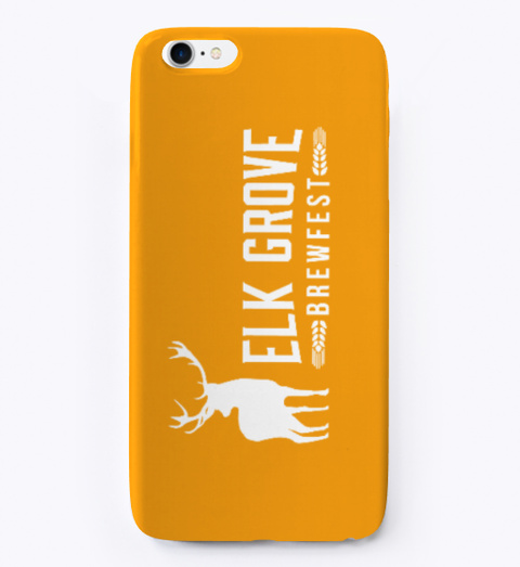 Egbf I Phone Cover Orange T-Shirt Front