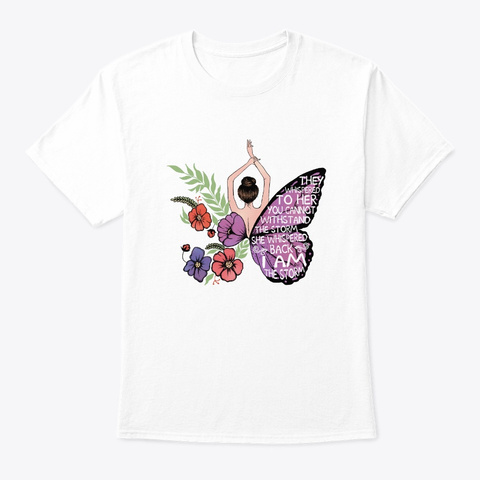 Flower Children Storm Hippie Costume White T-Shirt Front