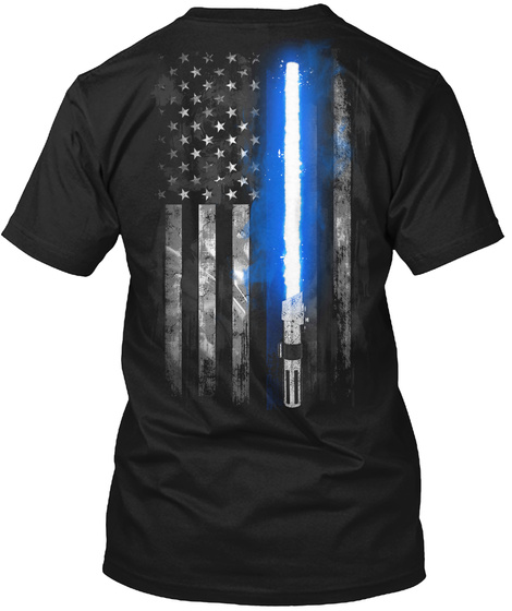 Trust In The Force  Black T-Shirt Back