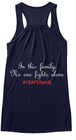 In This Family No One Fights Alone #1 Saf Dfamily Midnight Women's Tank Top Back