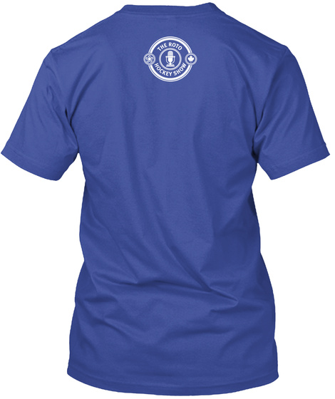 The Roto Hockey Show Deep Royal T-Shirt Back