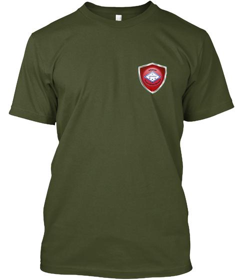 Arkansas Preparedness Network Military Green T-Shirt Front
