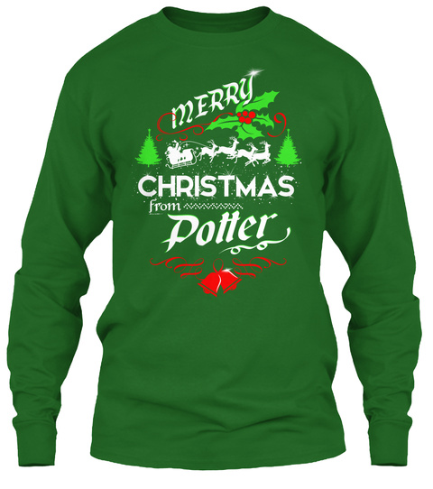 Xmas Gift From Potter  Irish Green T-Shirt Front