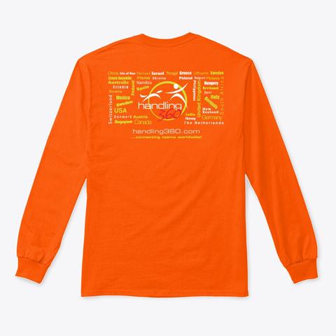 H360 Hoodies, Tees And Mugs Safety Orange T-Shirt Back