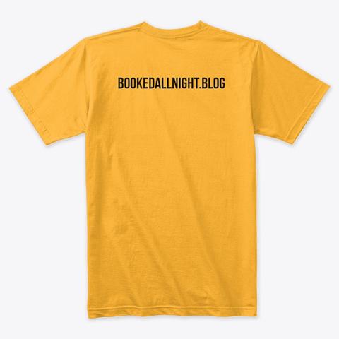 Book Nerd Gold T-Shirt Back