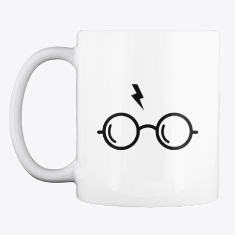 Potter Mug And Stickers! White T-Shirt Front