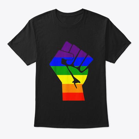 Lgbt Resist Gay Pride T Shirt Black T-Shirt Front