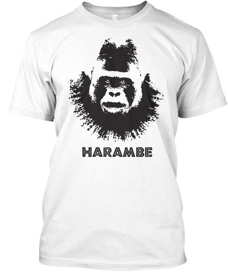 Harambe White T-Shirt Front