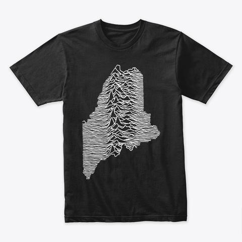 Unknown Pleasures Black T-Shirt Front