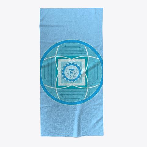 Throat Chakra Vishuddha Beach Towel Light Blue T-Shirt Front