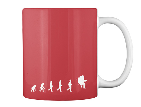 Next Step Astronaut Mug [Usa] #Sfsf Bright Red Mug Back