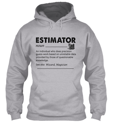 Awesome Estimator Sport Grey T-Shirt Front