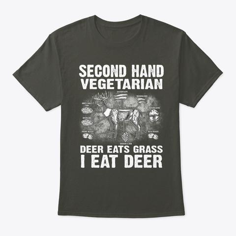 Second Hand Vegetarian   Hunting T Shirt Smoke Gray T-Shirt Front