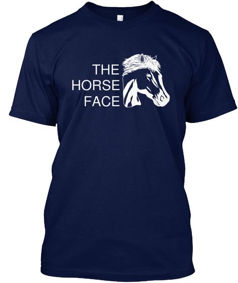 The Horse Face Navy T-Shirt Front