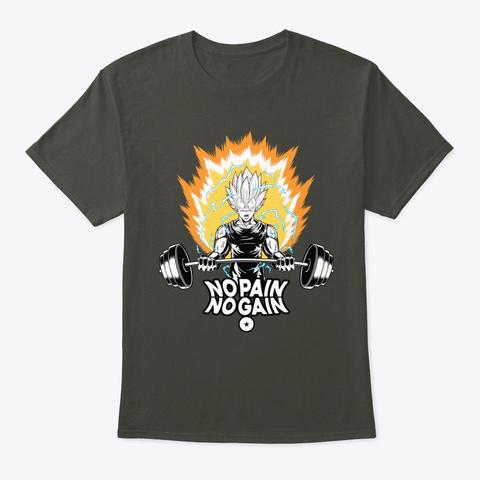 Vegeta Gym Smoke Gray T-Shirt Front