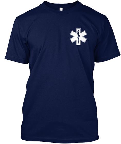 Warning! Navy T-Shirt Front