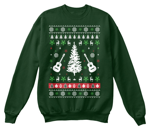 Country Music Ugly Christmas Sweater Deep Forest  Sweatshirt Front