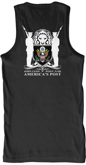 Men' Tank Top Black T-Shirt Back