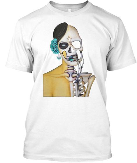 Dia De Los Muertos  White T-Shirt Front