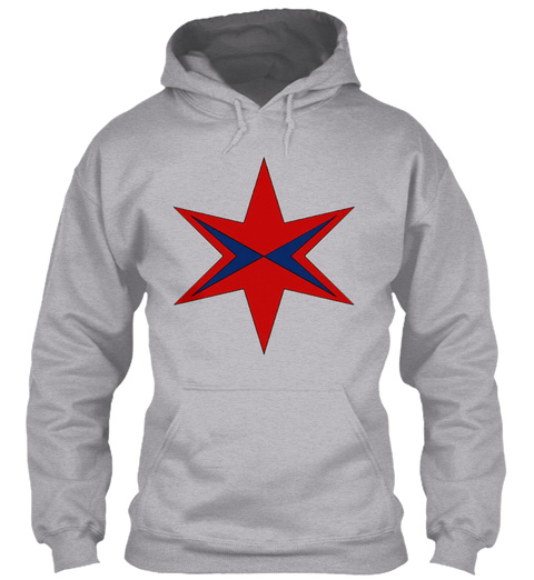 Captain Chicago Patch Logo Sport Grey T-Shirt Front
