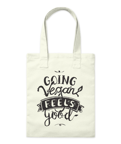 Going Vegan Feels Good Natural T-Shirt Front