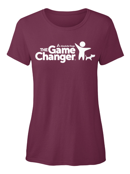 Absolute Dogs The Game Changer Burgundy T-Shirt Front