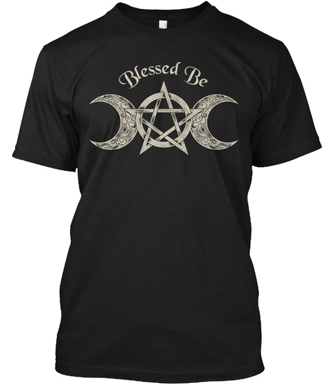 Blessed Be  Black T-Shirt Front