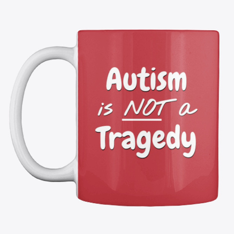 Not Tragedy Mug Bright Red T-Shirt Front