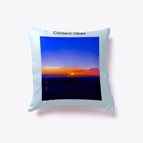 Content Vibes Back To School  Pale Blue T-Shirt Back