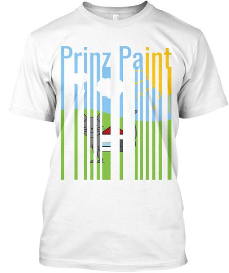 Prinz Paint   Signature   Art Style White T-Shirt Front