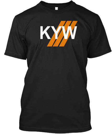 Kyw   Know Your Wheel Black T-Shirt Front