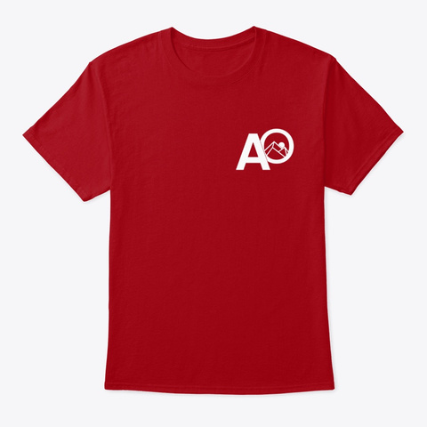 The Initial Deep Red T-Shirt Front