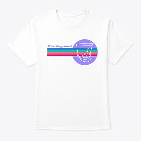 [$15+] Marching Band Retro   Shako White T-Shirt Front