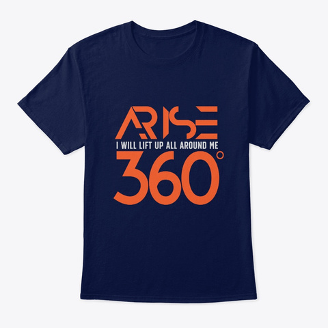 360: A Rise Lift Up   Qore Navy T-Shirt Front
