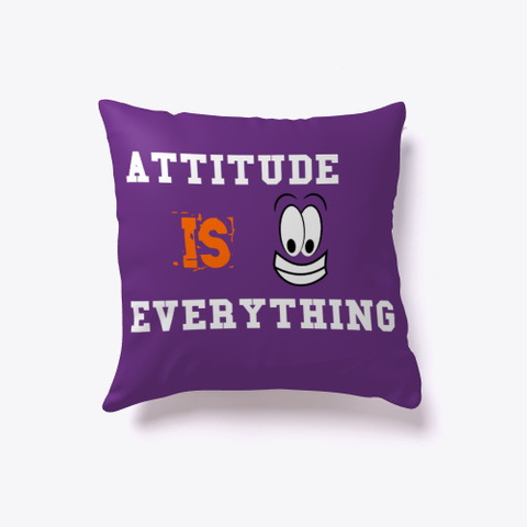 Attitude Is Everything Purple T-Shirt Front