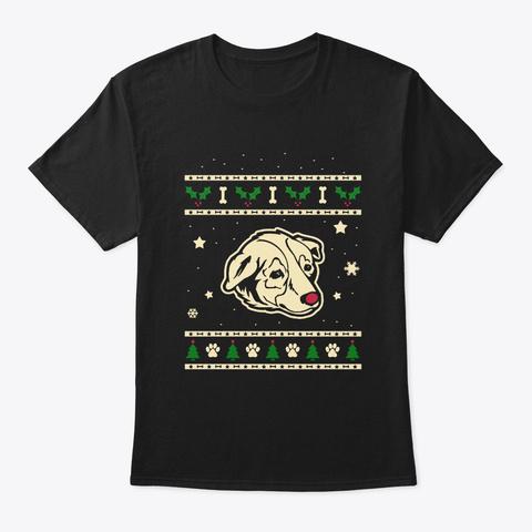 Christmas Welsh Sheepdog Gift Black T-Shirt Front