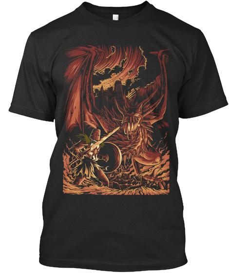 Wyvern's Wrath Black T-Shirt Front