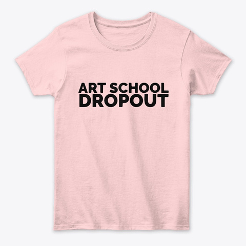 Confessions Of An Art School Dropout Light Pink áo T-Shirt Front