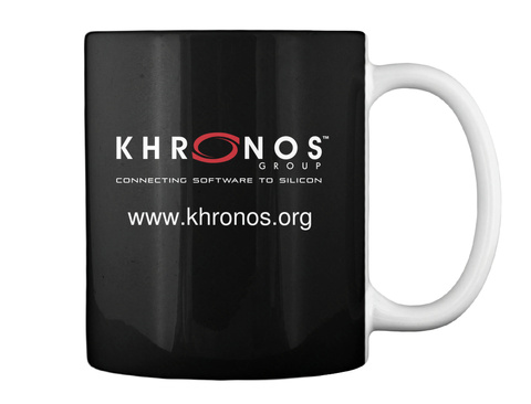 Khronos Tm Group Connectinh Software To Silicon Www.Khronos.Org Black Mug Back