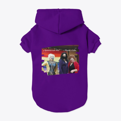 3 Queens Are We Purple T-Shirt Back